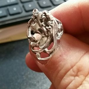.925 Silver Earth Mother ring sizes 7-8